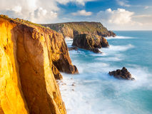 Cliffs at Lands End Cornwall Royalty Free Stock Photography