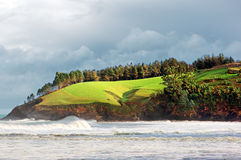 Cliffs in Lekeitio coast. Basque Country Stock Image