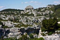 The Cliffs of Les Baux Stock Images