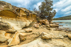 Cliffs Tasmania Stock Images