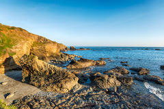 Cliffs at the Lizard in Cornwall Royalty Free Stock Photography