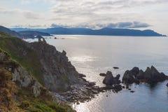 Cliffs of Loiba, A Coruna, Spain royalty free stock photos