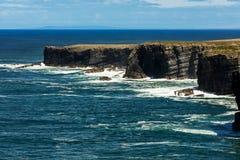 Cliffs of Loop Head, Kilbaha, Co. Clare, Ireland royalty free stock photography