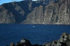 Cliffs of the Los Gigantes Royalty Free Stock Images