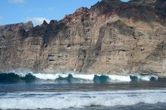 Cliffs of the Los Gigantes Stock Photography