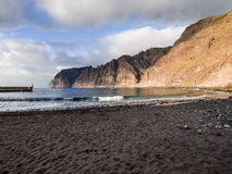 Cliffs of Los Gigantes at sunset Royalty Free Stock Photography