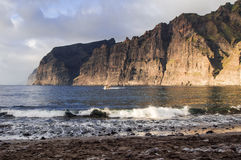 Cliffs of Los Gigantes at sunset Royalty Free Stock Photo
