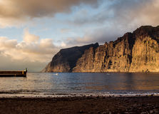 Cliffs of Los Gigantes at sunset Stock Photos