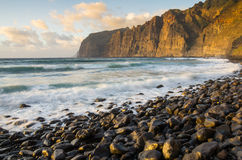 Cliffs of Los Gigantes at sunset Stock Images