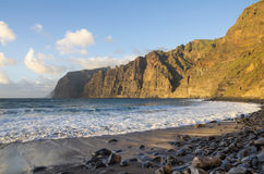 Cliffs of Los Gigantes at sunset Royalty Free Stock Image