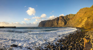Cliffs of Los Gigantes at sunset Stock Image