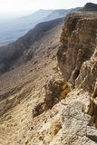 The Cliffs of the Makhtesh Ramon Crater in Israel royalty free stock images