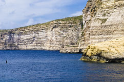 Cliffs Malta Gozo Stock Image