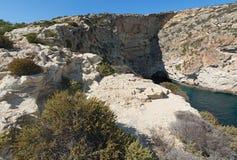 Cliffs of Malta Stock Image