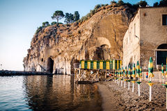 Cliffs at Marina di Cassano. Piano di Sorrento. Italy Stock Image