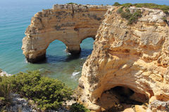 Cliffs of Marinha cove Stock Images