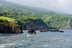 Cliffs in Maui Hawaii Stock Photography