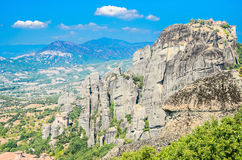 Cliffs of Meteora, Greece Stock Image
