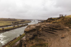 Cliffs of the Missouri River royalty free stock photo