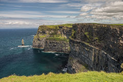 Cliffs of Mohar. Recently voted the best cliffs in the World the cliffs of Mohar are in Ireland in Co Clare. 700 feet anove the Atlantic its a sight seen by over Stock Photo
