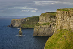 Cliffs of Moher. Ireland- with unrecognizable people Stock Images
