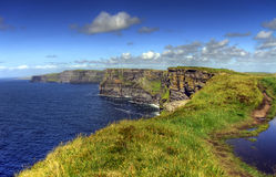 Cliffs of Moher.. Cliffs of Moher - highest cliffs in Europe Stock Photo