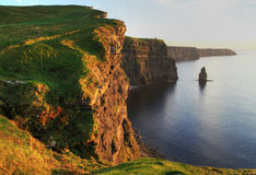 Cliffs of Moher. At sunset - Ireland Royalty Free Stock Images