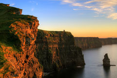 Cliffs of Moher. At sunset - Ireland Royalty Free Stock Photos
