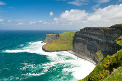 Cliffs of Moher. The Cliffs of Moher in County Clare are one of the tallest sea cliffs in Ireland and is a popular tourist destination Royalty Free Stock Photos