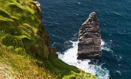 Cliffs of Moher. Picture taken of the famous rock stack at the Cliffs of Moher on the west coast of Ireland Royalty Free Stock Photo