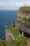 Cliffs of Moher. A view of the Cliffs of Moher in Co. Clare, Ireland. The Cliffs of Moher are one of the most popular tourist attractions in Ireland and receive Royalty Free Stock Photos