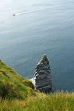 The Cliffs of Moher. (Ireland) with a boat Royalty Free Stock Images