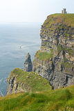 The Cliffs of Moher. (Ireland) on a day of mist royalty free stock images