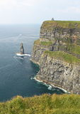 The Cliffs of Moher. (Ireland) on a day of mist stock photography