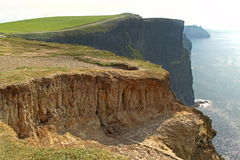 The Cliffs of Moher. (Ireland) on a day of mist royalty free stock photography