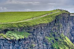 Cliffs of Moher. The top of the Cliffs of Moher in Ireland Royalty Free Stock Photos