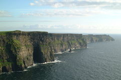 Cliffs of Moher. Scenic view of cliffs of Moher receding into distance, County Clare, Republic of Ireland Stock Photo