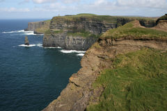 Cliffs of Moher. Ireland, focus on the foreground Stock Image