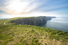 Cliffs of Moher and Atlantic Ocean Royalty Free Stock Photo
