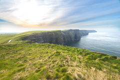 Cliffs of Moher and Atlantic Ocean Royalty Free Stock Image