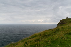 Cliffs of moher and atlantic ocean in ireland Royalty Free Stock Images