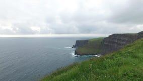 Cliffs of moher and atlantic ocean in ireland  46 stock footage