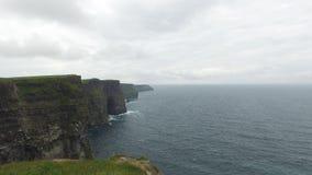 Cliffs of moher and atlantic ocean in ireland  42 stock video