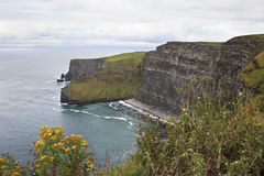 Cliffs of Moher and Atlantic Ocean. Stock Image