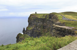 Cliffs of Moher and Atlantic Ocean. Royalty Free Stock Photos
