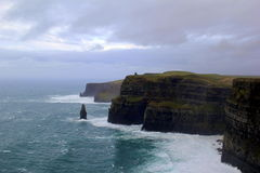 Cliffs of Moher, an attraction that draws people from all over the world, Ireland,2014 Royalty Free Stock Image