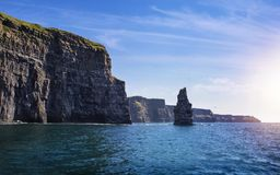 The Cliffs of Moher, Branaunmore Sea Stack. County Clare, Ireland Royalty Free Stock Photography