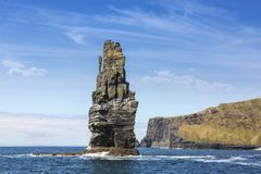 The Cliffs of Moher, Branaunmore Sea Stack. County Clare, Ireland Stock Photo