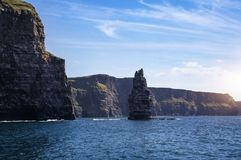 The Cliffs of Moher, Branaunmore Sea Stack stock photo