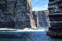 The Cliffs of Moher, Branaunmore Sea Stack. County Clare, Ireland stock images